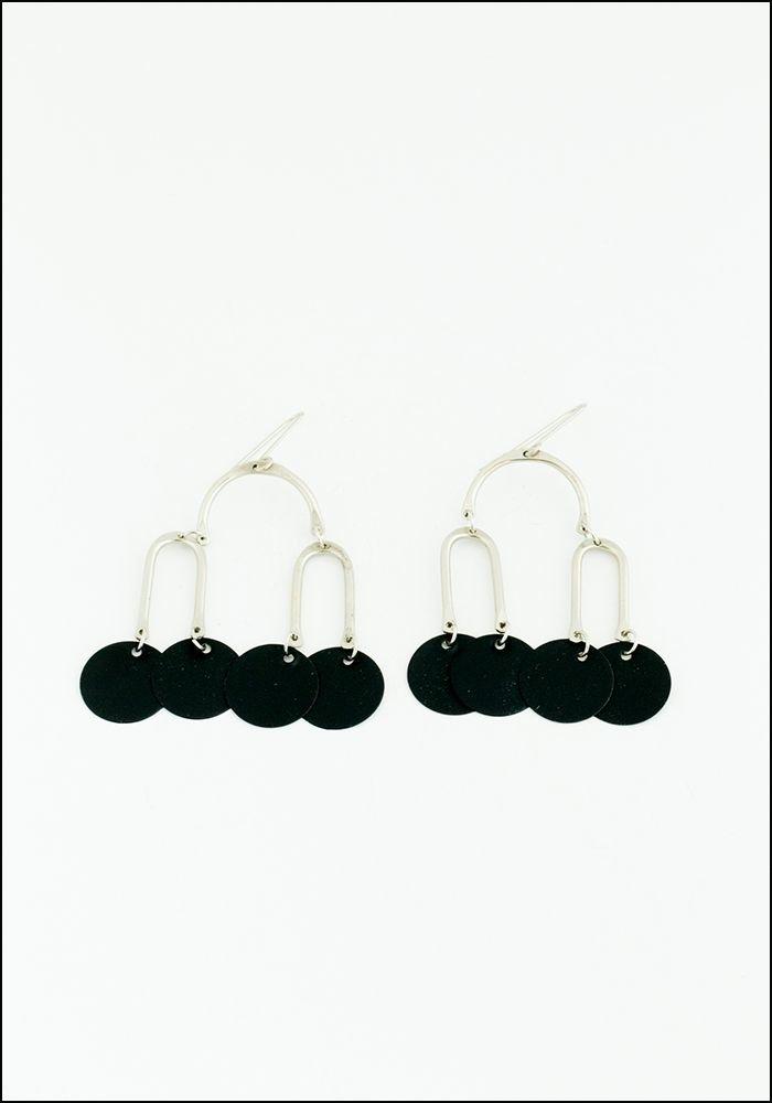 Sibilia Black Mobile Earrings