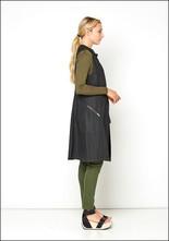 Lurdes Bergada Long Waxed Linen Zip Vest
