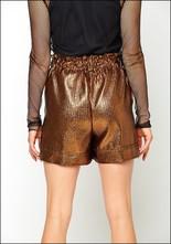 Nude Nude Metallic High Waist Shorts