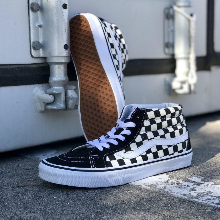 50% price new design how to serch Sk8 Mid Reissue Checkerboard - Eight One