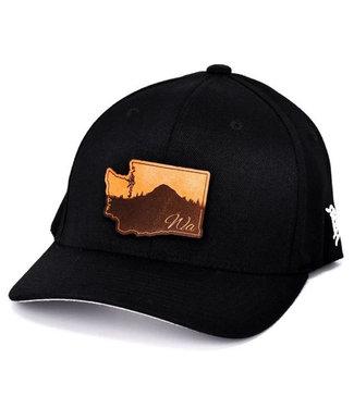 Branded Bills Branded Bills Washington Landscape Curved Flex Fit Black
