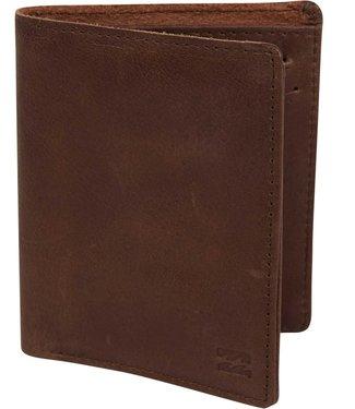 Billabong Billabong Mens Gaviotas Leather Wallet MAWTTBGL BRN