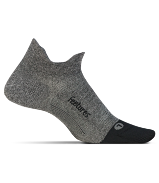 Feetures Feetures Mens Elite Ultra Light No Show Tab Grey E551603