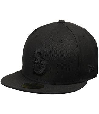 New Era New Era Mens Black on Black Seattle Mariners Hat 10047328