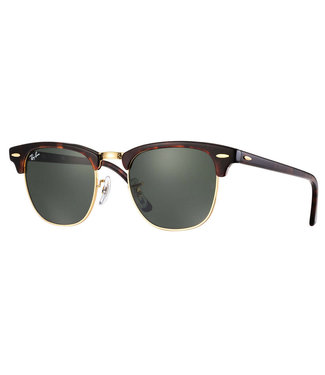 Ray Ban Ray Ban Clubmaster Tortoise W Green 0RB3016