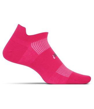 Feetures Feetures Wmns Ultra Light Cushion No Show Tab FA55182 Deep Pink Medium