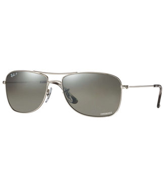 Ray Ban Ray Ban Chromance Shiny Silver W Grey Polarized 0RB3543