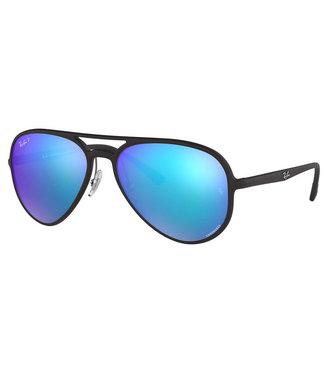 Ray Ban Ray Ban Chromance Matte Black W Green Blue Polar 0RB4320CH