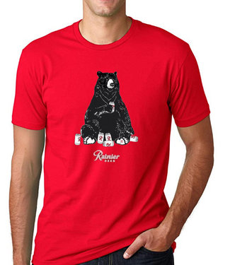 Casual Industrees Casual Industrees Mens Rainier Bear TShirt RED
