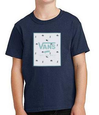 Vans Vans Youth Print Box Dress Blues TShirt VN0A318NYPL