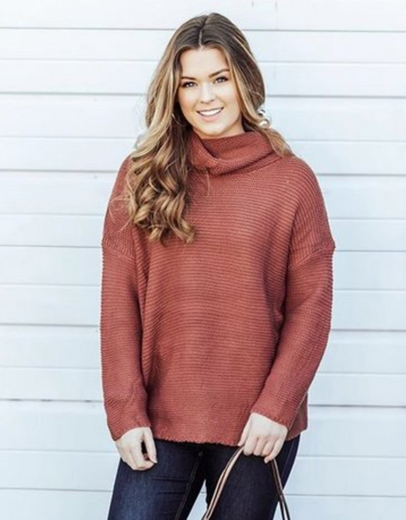 LUXE Upgrade It Cowl Knit Sweater