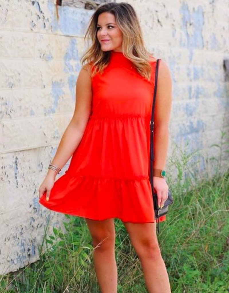 LUXE Cause A Ruffle Dress