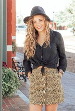 LUXE Play Nice Leopard Skirt