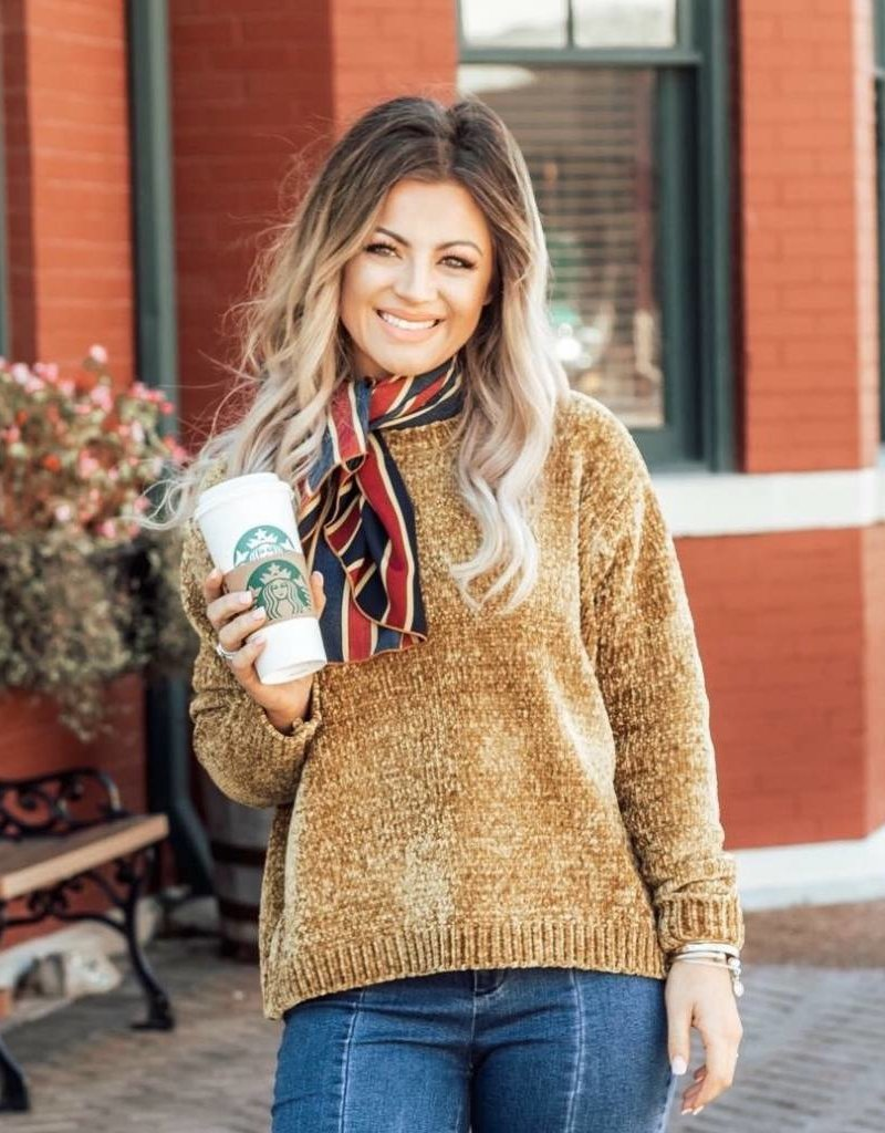 LUXE Right About It Chenille Sweater