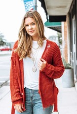 LUXE Make it Fair Distressed Cardigan
