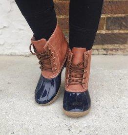 LUXE Winter Trends Navy Duck Boots