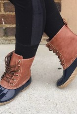 LUXE Winter Trends Navy Duck Boots