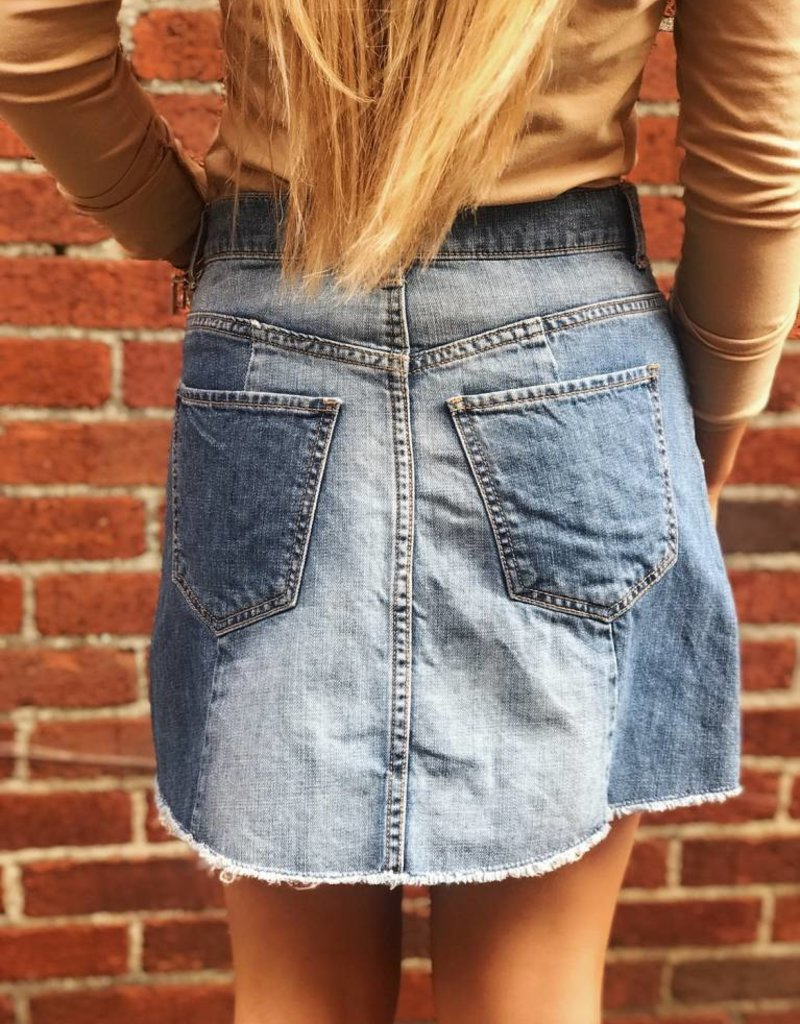 LUXE Simply Iconic Denim Skirt