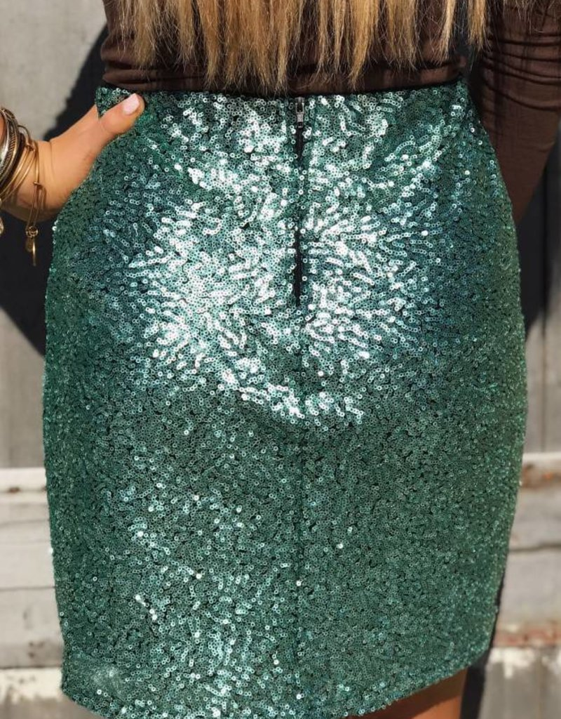 LUXE Party On Sequin Mini Skirt