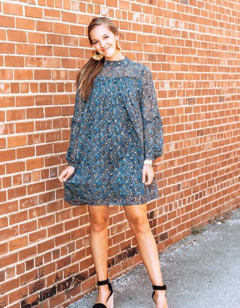 LUXE Field of Dreams High Neck Dress