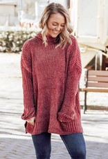 LUXE Trust Your Heart Chenille Sweater