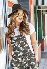 LUXE Taking It Back Camo Overalls