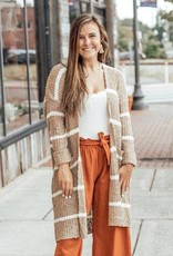 LUXE Nothing But Knit Striped Cardigan
