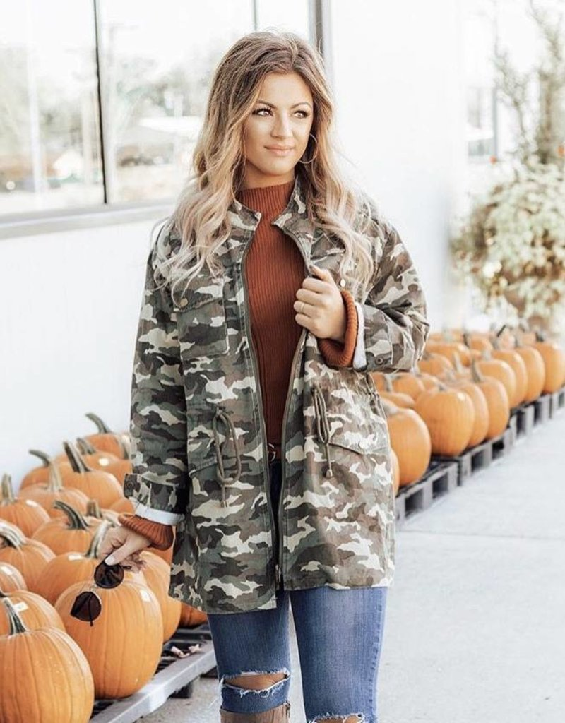 LUXE Cool in Camo Utility Jacket