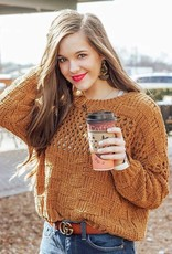 LUXE Crushing On You Checkered Sweater