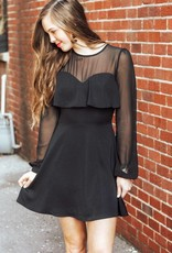 LUXE All The Charm Black Dress