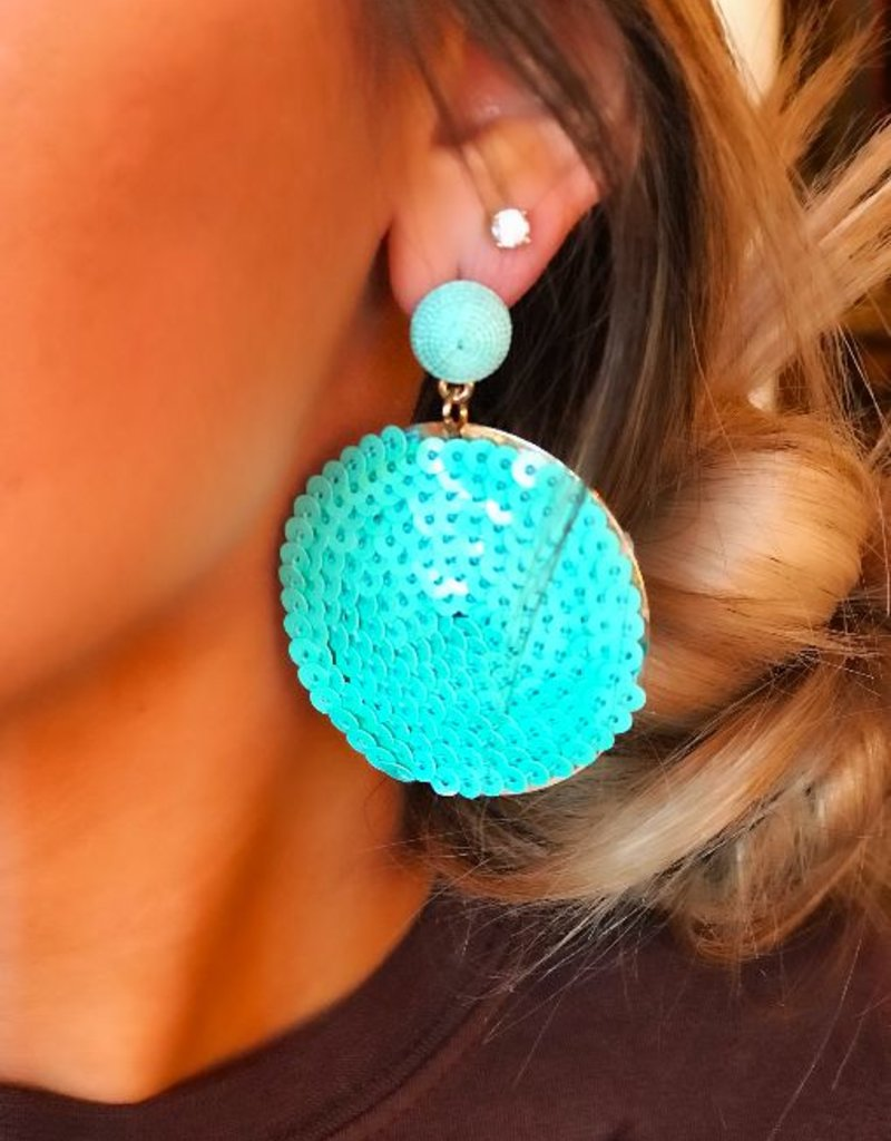 LUXE Stunning In Sequins Statement Earring