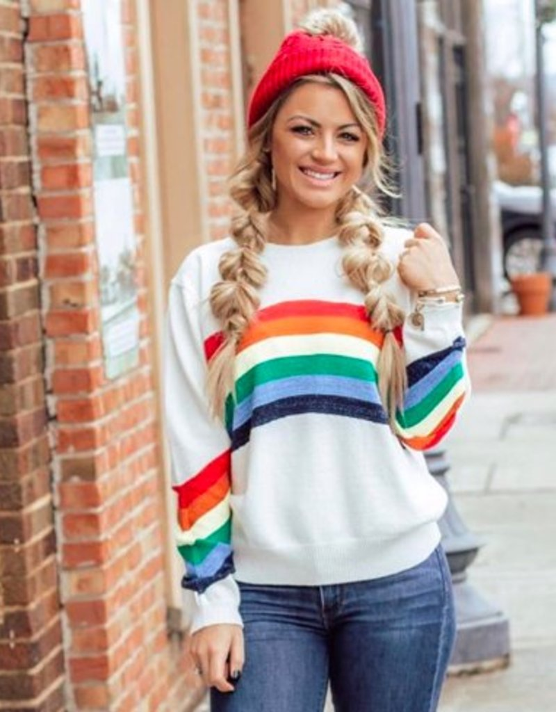 LUXE Over The  Rainbow Sweater