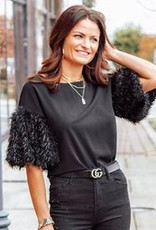 LUXE It Factor Shaggy Blouse