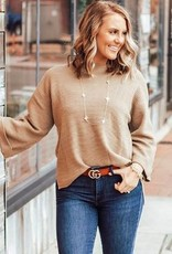 LUXE Express Yourself Ribbed Sweater
