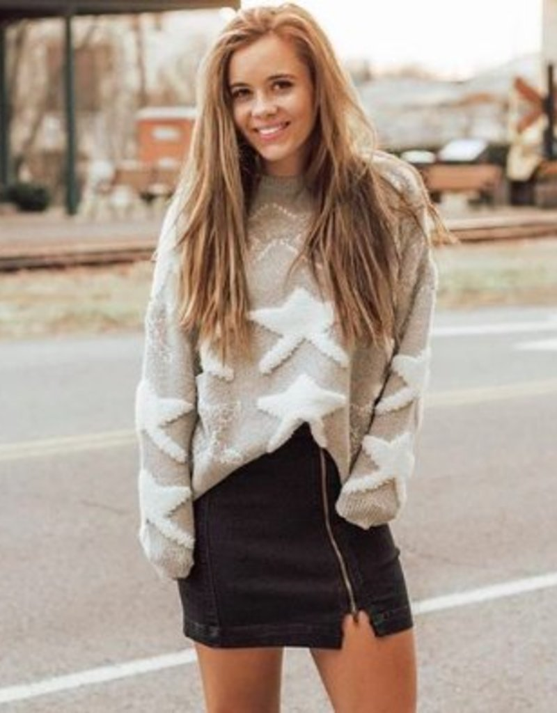 LUXE All Shook Up Star Sweater