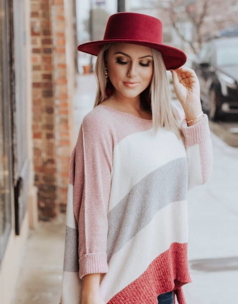 LUXE Caught My Eye Color Block Sweater