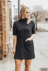 LUXE A Little Mystery Sweater Dress