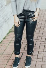 LUXE Dare To Be Different Faux Leather Jogger