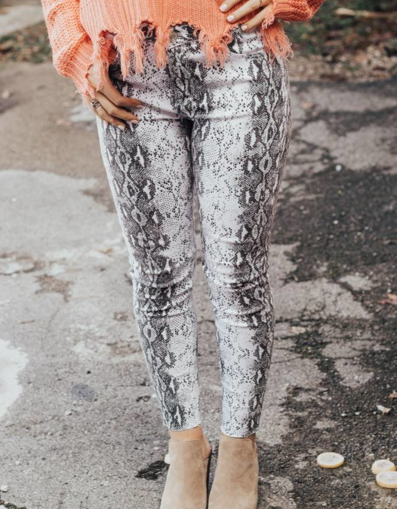 LUXE It's Now or Never Snakeskin Jean