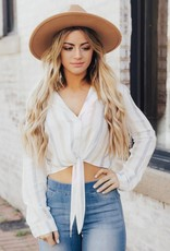 LAYNEE & LEE Adventure Awaits Button Down Crop Top