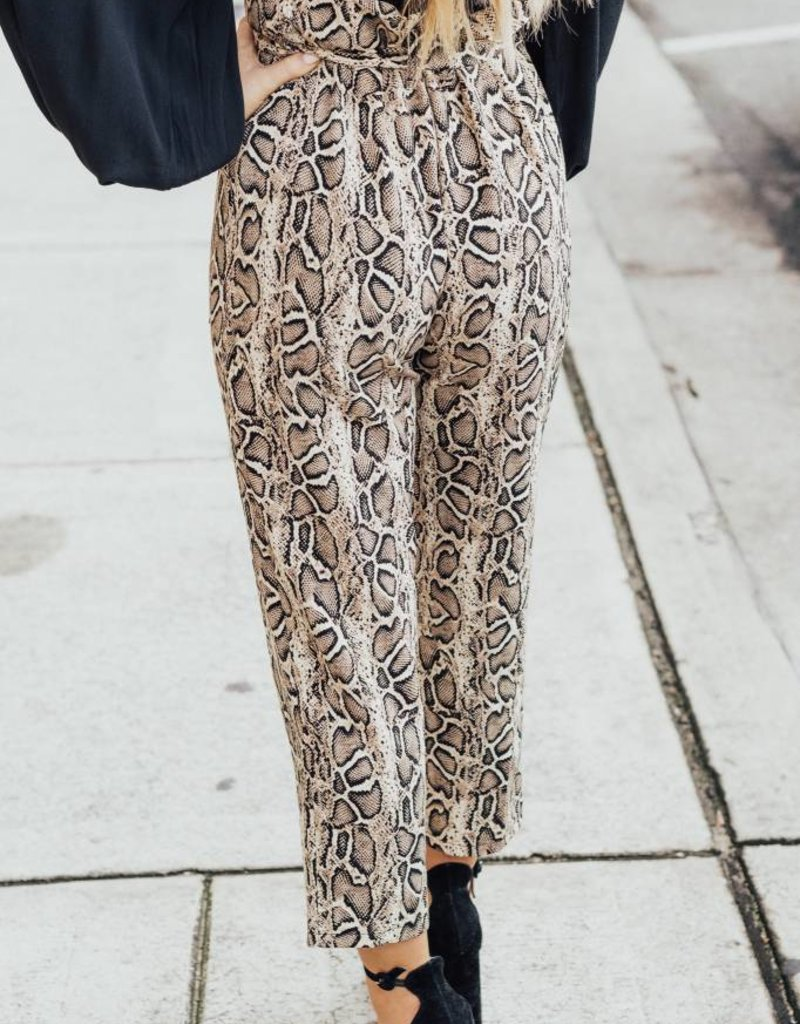 LUXE Lost In The Moment Snakeskin Pant