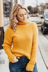 LUXE Simply Stated Ribbed Turtleneck
