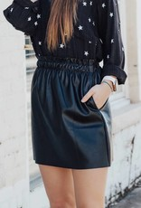 LUXE Keep Calling Me Back Faux Leather Skirt