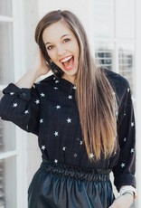 LUXE Seeing Stars Button Up Top