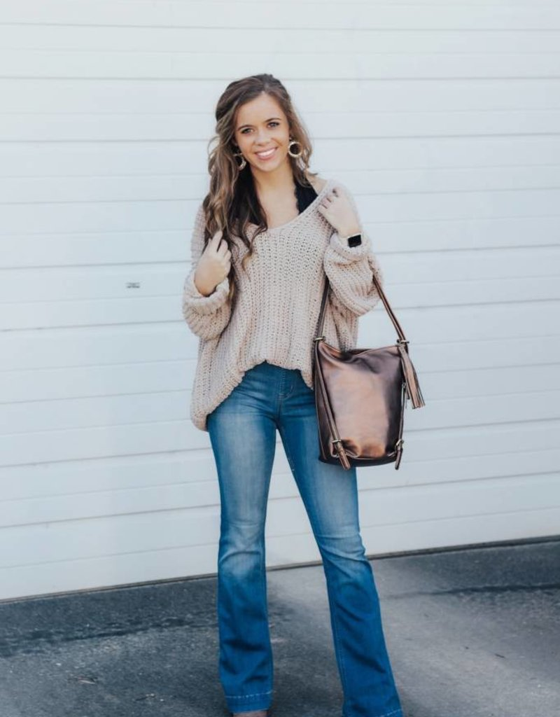 LUXE Cozy Up Knit Sweater