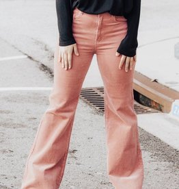 LUXE Falling Through Time Corduroy Flare Pant