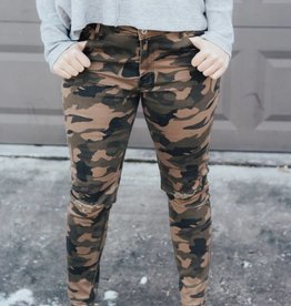 LUXE Casual In Camo Skinny Jean