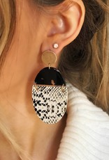 LUXE Intro to Style Snakeskin Earring