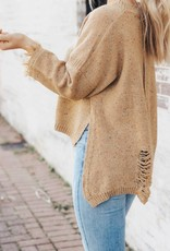LUXE Already Gone Frayed Sweater