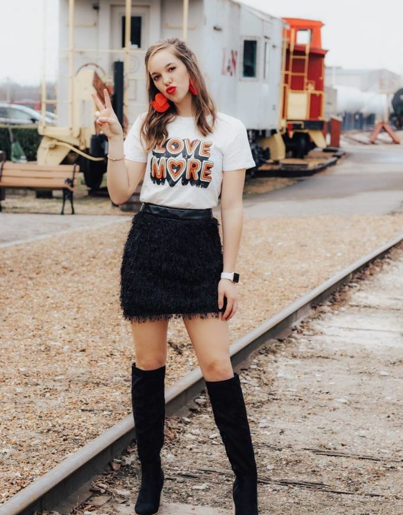 LUXE Give Me More Love Graphic Tee